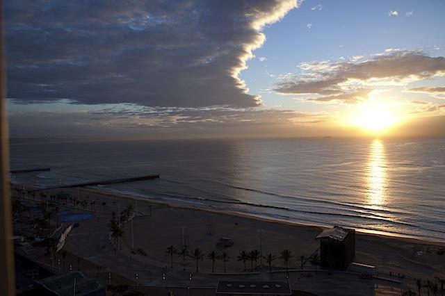 sunrise over durban